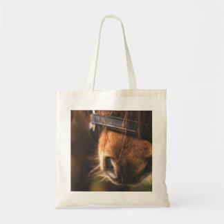 Closeup of a Cute Brown Horse Nose Tote Bag