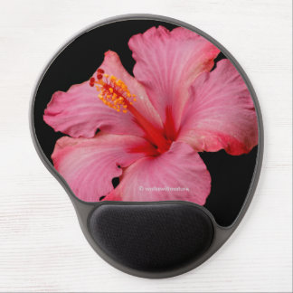 Closeup of a Pink Hibiscus Gel Mouse Pad