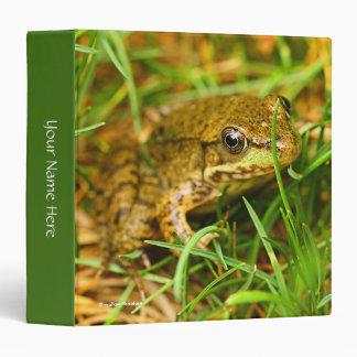 Closeup of a Tree Frog Binder