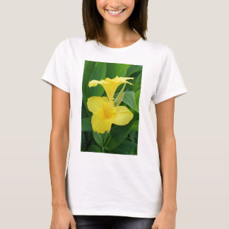 Closeup Of A Tropical Yellow Canna Lily T-Shirt