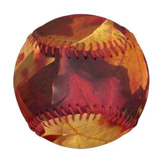 Closeup of Autumn Leaves Baseball