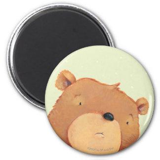 CloseUp of Big Brown Bear 2 Inch Round Magnet