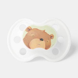 CloseUp of Big Brown Bear Pacifier