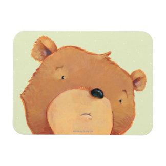 CloseUp of Big Brown Bear Rectangular Photo Magnet