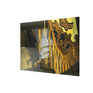 Closeup of Boots & Chaps Gallery Wrap Canvas