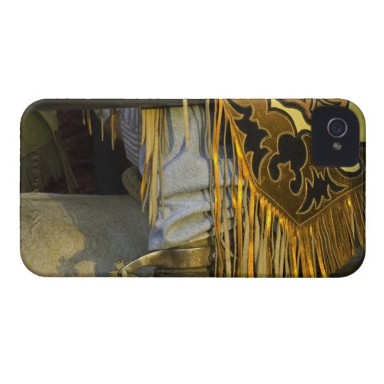 Closeup of Boots & Chaps Case-Mate iPhone 4 Case