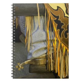 Closeup of Boots & Chaps Spiral Notebook