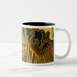 Closeup of Boots & Chaps Two-Tone Coffee Mug