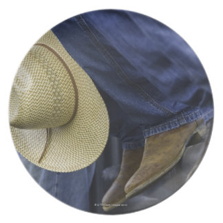 Closeup of Boots & Hat Plate