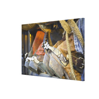 Closeup of Boots & Spurs 2 Canvas Print