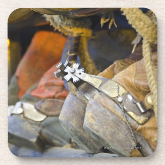 Closeup of Boots & Spurs 2 Beverage Coaster