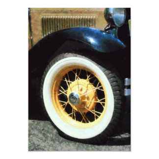 Closeup of Car Wheel Card
