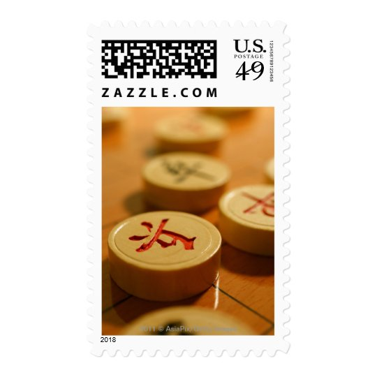 Closeup of Chinese board game Postage