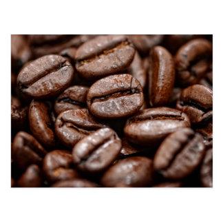 Closeup of Coffee Beans Postcard