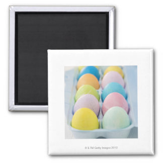 Closeup of colored Easter eggs Magnet