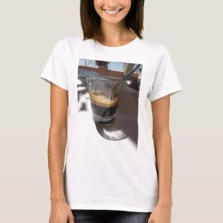 Closeup of espresso coffee in a glass cup T-Shirt