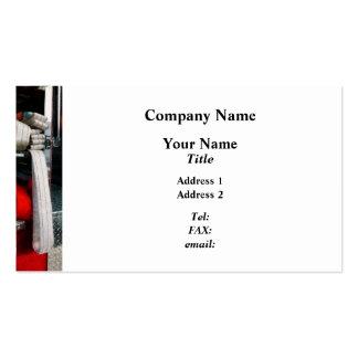 Closeup of Fire Hose Business Card Template