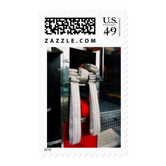 Closeup of Fire Hoses Postage