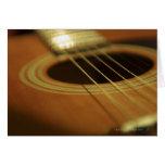 Closeup of Guitar Greeting Card