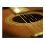 Closeup of Guitar Postcard