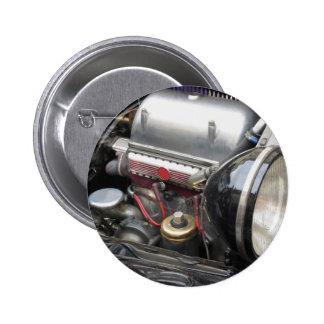 Closeup of italian classic car engine button