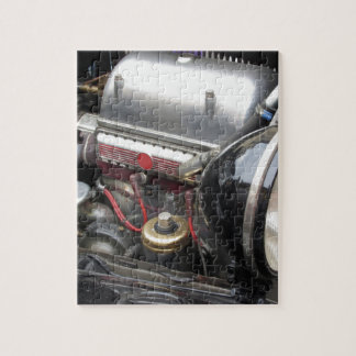 Closeup of italian classic car engine jigsaw puzzle