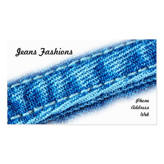 Closeup of Jeans and Denim Fabric Double-Sided Standard Business Cards (Pack Of 100)