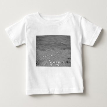 Beach Themed Closeup of sand beach with sea blurred background baby T-Shirt