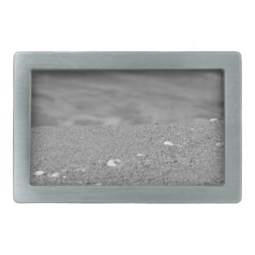 Beach Themed Closeup of sand beach with sea blurred background belt buckle