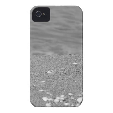 Beach Themed Closeup of sand beach with sea blurred background Case-Mate iPhone 4 case