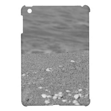 Beach Themed Closeup of sand beach with sea blurred background iPad mini covers