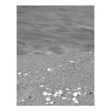 Beach Themed Closeup of sand beach with sea blurred background letterhead