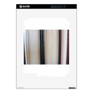 Closeup of second hand books standing on a table skin for the iPad 2