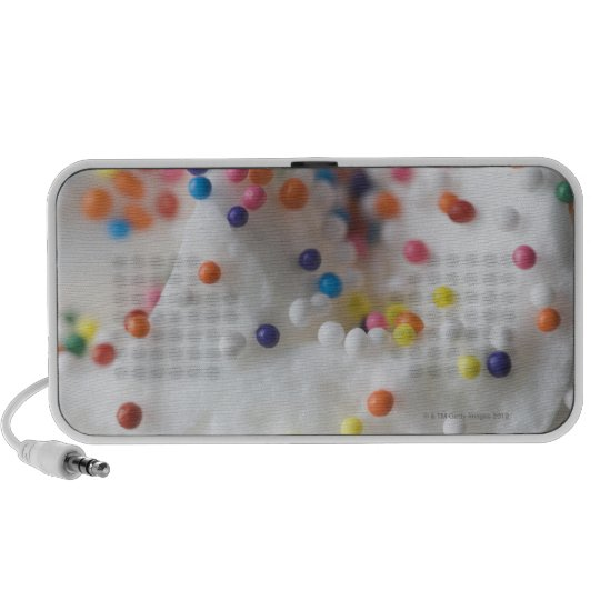 Closeup of sprinkles and frosting portable speaker