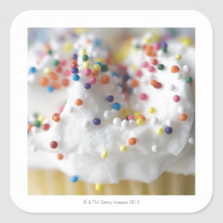 Closeup of sprinkles and frosting square sticker