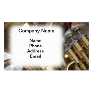 Closeup of Tuba Player Business Card