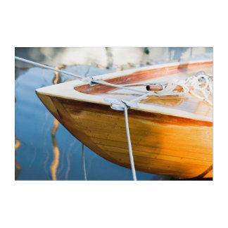 Closeup On Tied Up Boat Acrylic Print