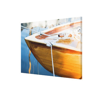 Closeup On Tied Up Boat Canvas Print
