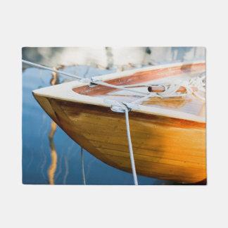 Closeup On Tied Up Boat Doormat