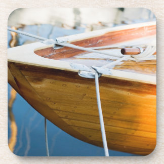 Closeup On Tied Up Boat Drink Coaster