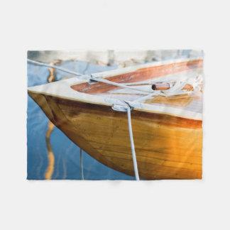Closeup On Tied Up Boat Fleece Blanket
