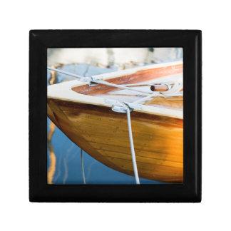 Closeup On Tied Up Boat Keepsake Box