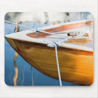 Closeup On Tied Up Boat Mouse Pad