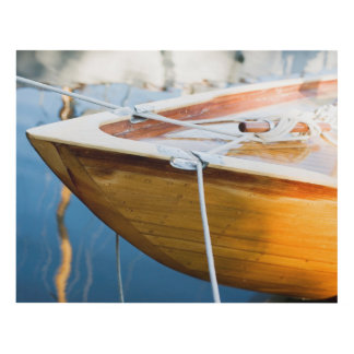 Closeup On Tied Up Boat Panel Wall Art