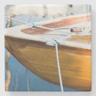 Closeup On Tied Up Boat Stone Coaster