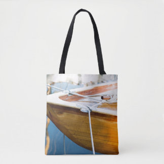 Closeup On Tied Up Boat Tote Bag