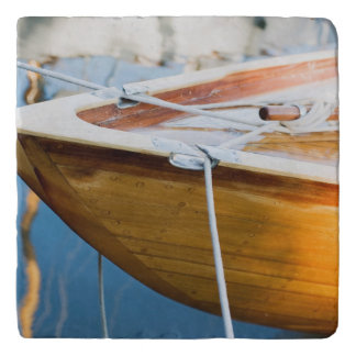 Closeup On Tied Up Boat Trivet