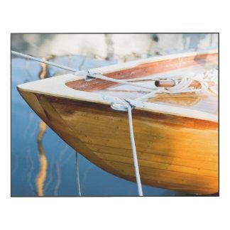 Closeup On Tied Up Boat Wood Wall Art