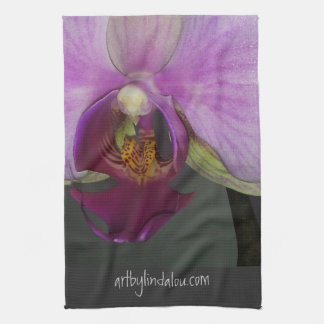 Closeup Orchid MoJo Kitchen Towel