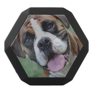 Closeup Photo of a Cute Panting Boxer Dog Black Bluetooth Speaker